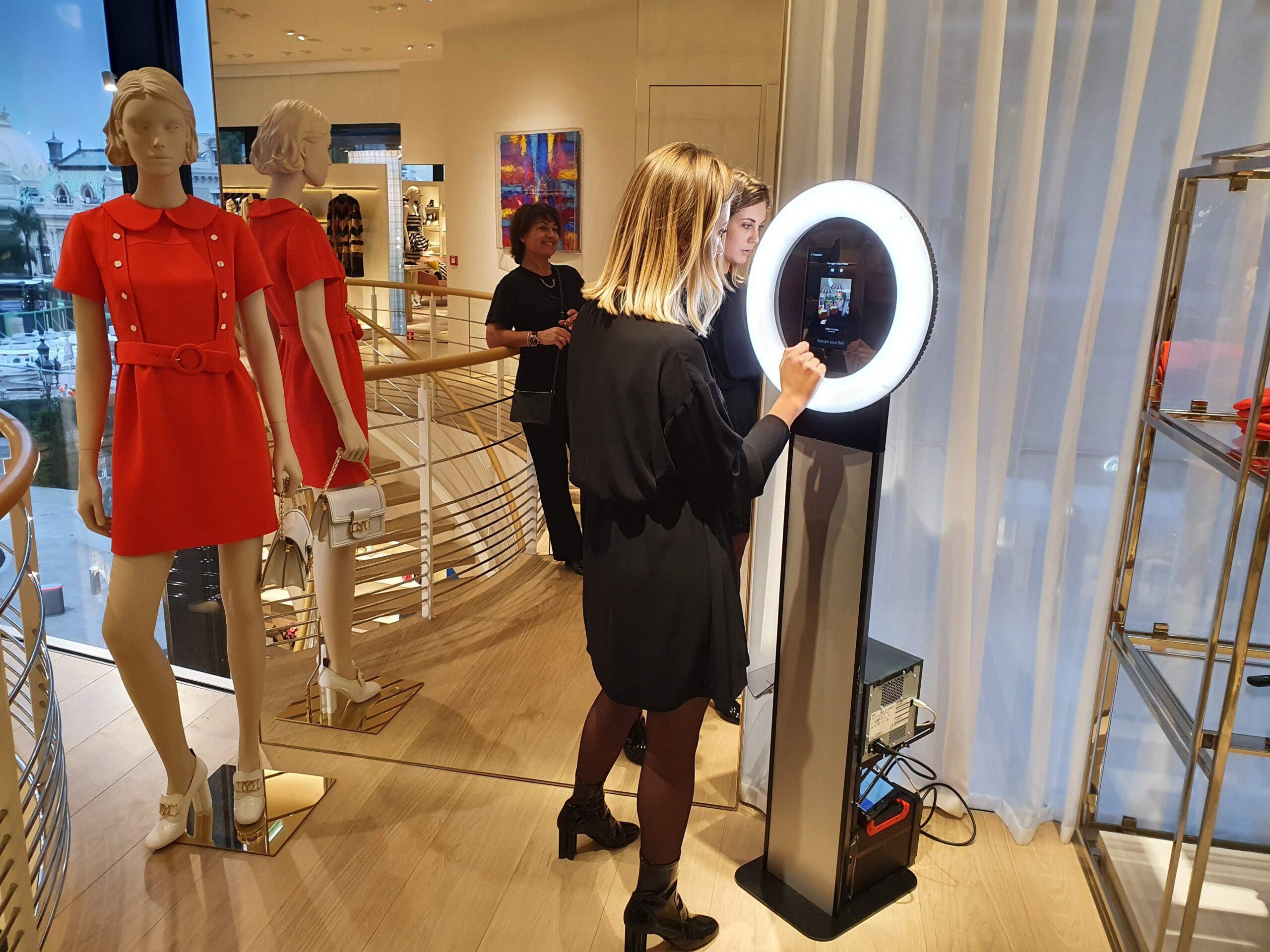 Photobooth dans une boutique Louis Vuitton