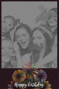 Cadre photobooth Celebration oersonnalisable