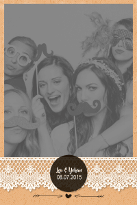 Cadre photobooth Wood personnalisable