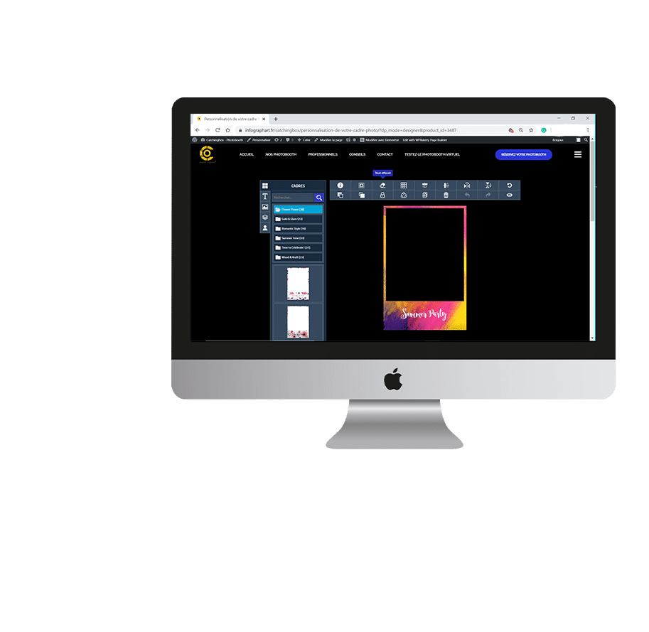Personnalisation de cadre photo sur Mac