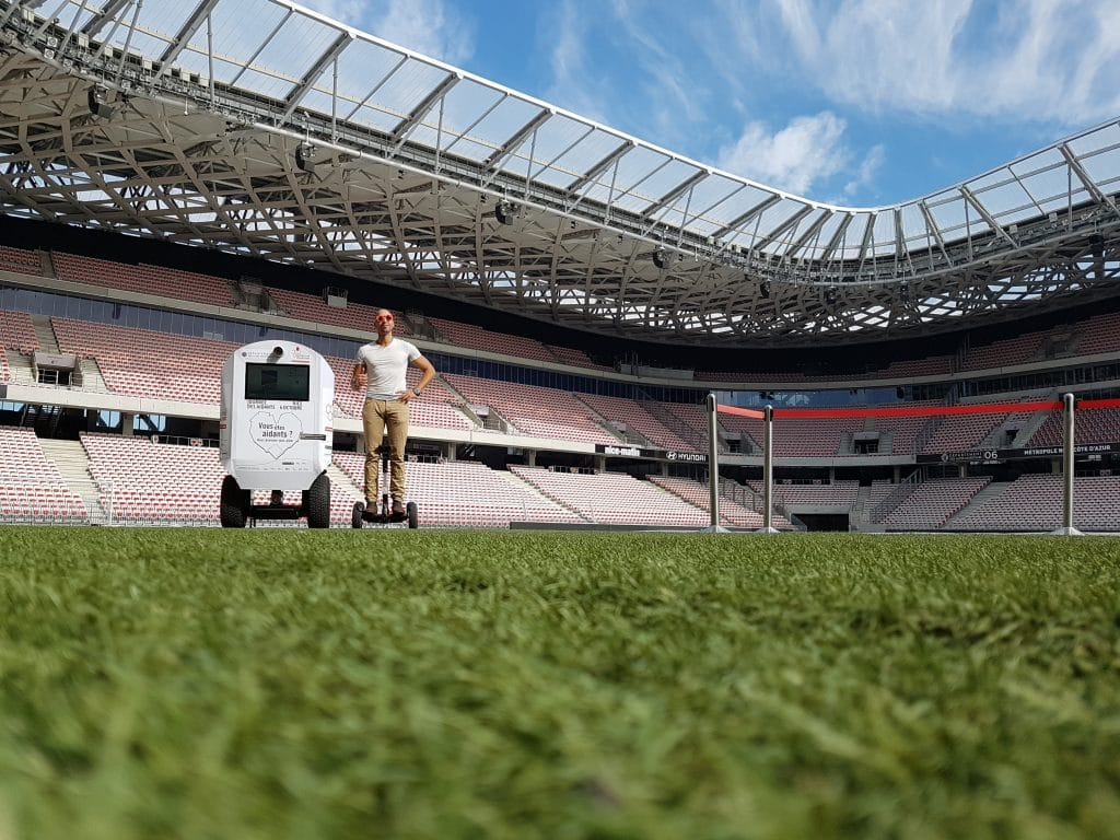 Le Streetbooth dans le stade Allianz Riviera