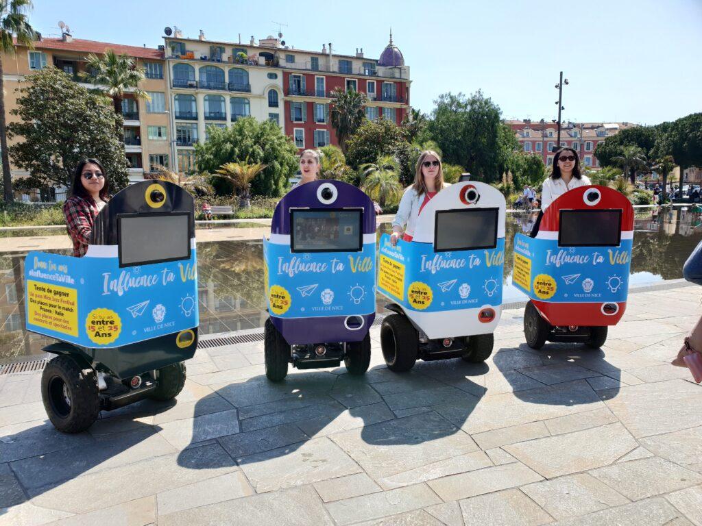 4 Streetbooth dans la ville de Nice