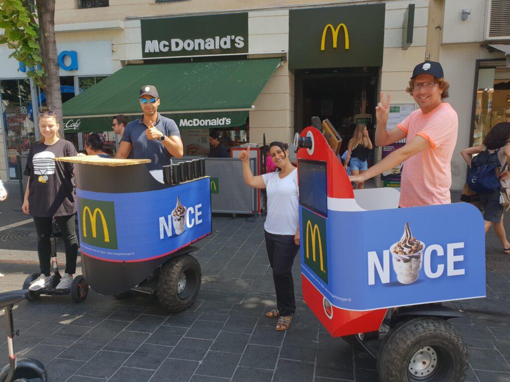 Le Streetbooth à l'effigie de McDonald's à Nice