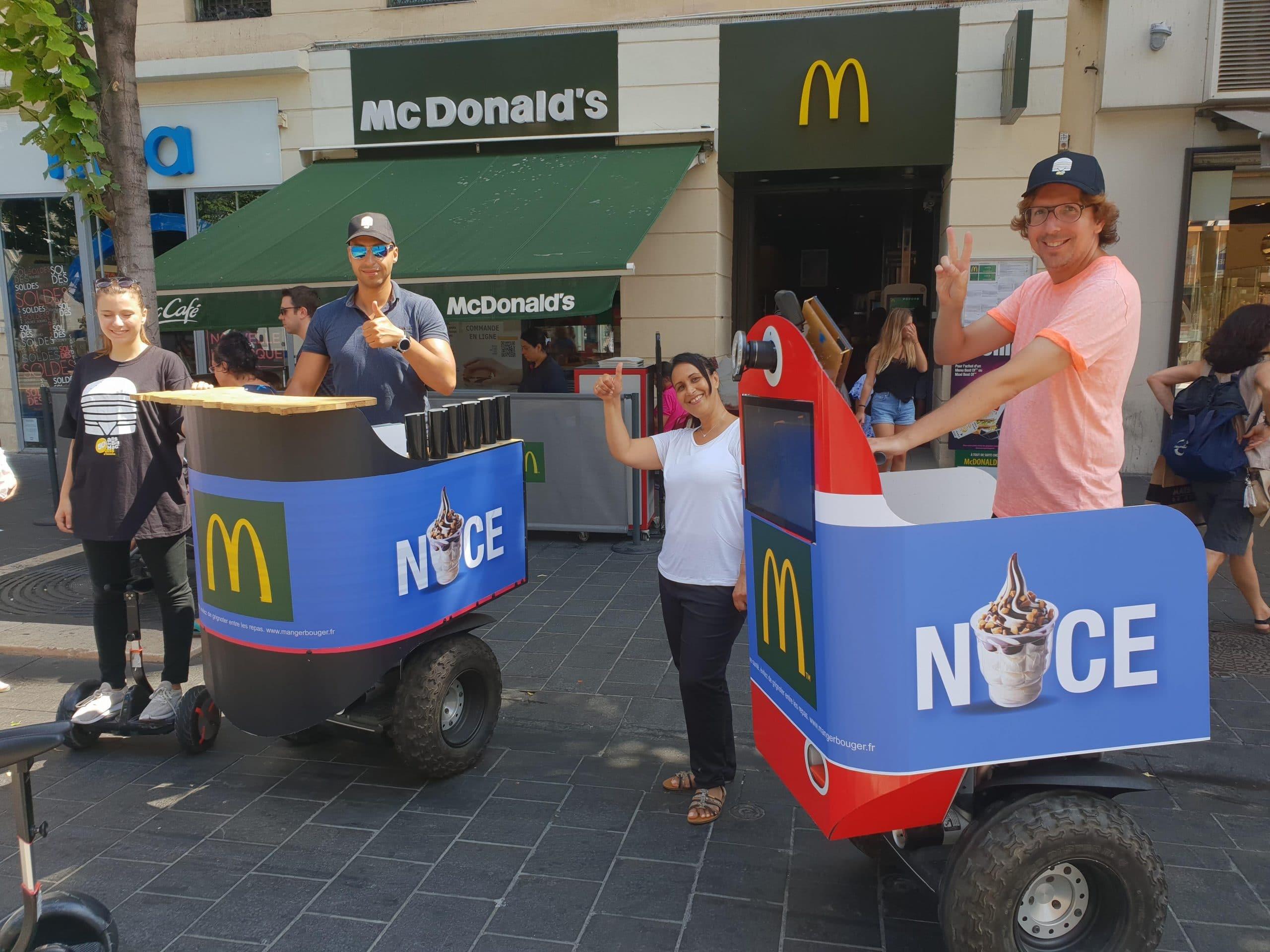 Deux streetbooth à Nice à l'effigie de la célèbre chaîne McDonald's
